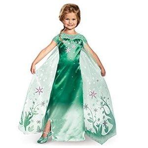 Disney girls Frozen Elsa size 10 green dress NWOT